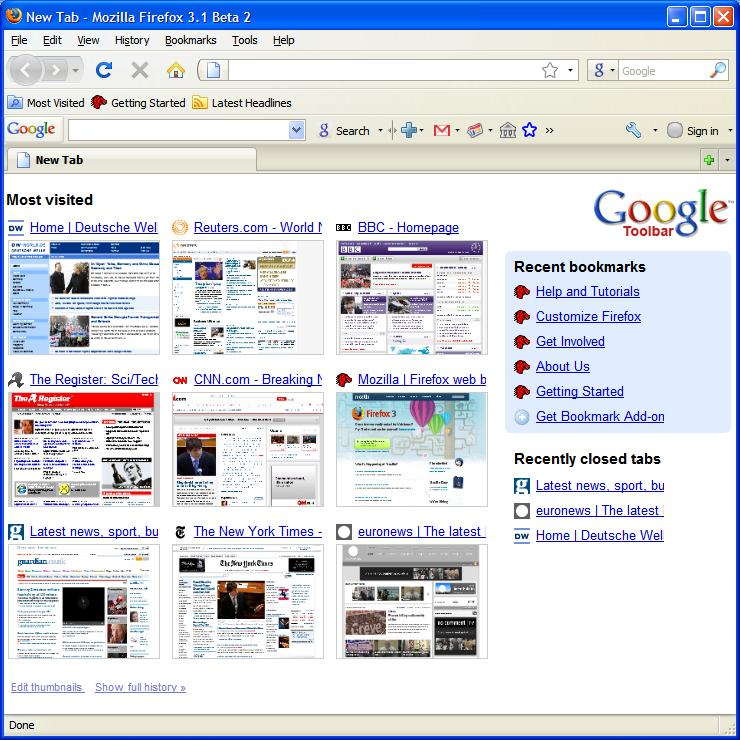 Chrome Google Toolbar