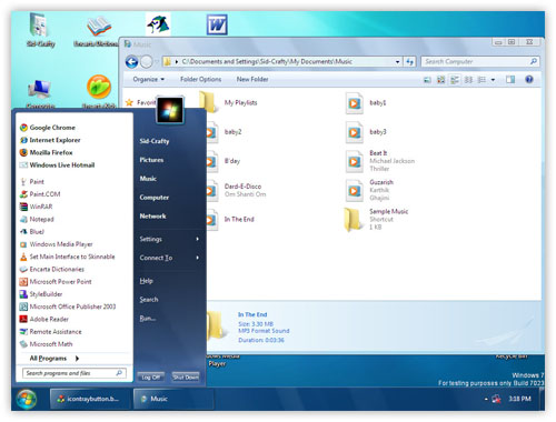 Windows 7 Themes for Windows XP